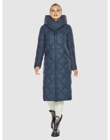Длинная женская синяя куртка Kiro Tokao 60074 фото 1