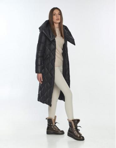 Чёрная куртка с манжетами женская Wild Club осенняя 594-37 фото 1