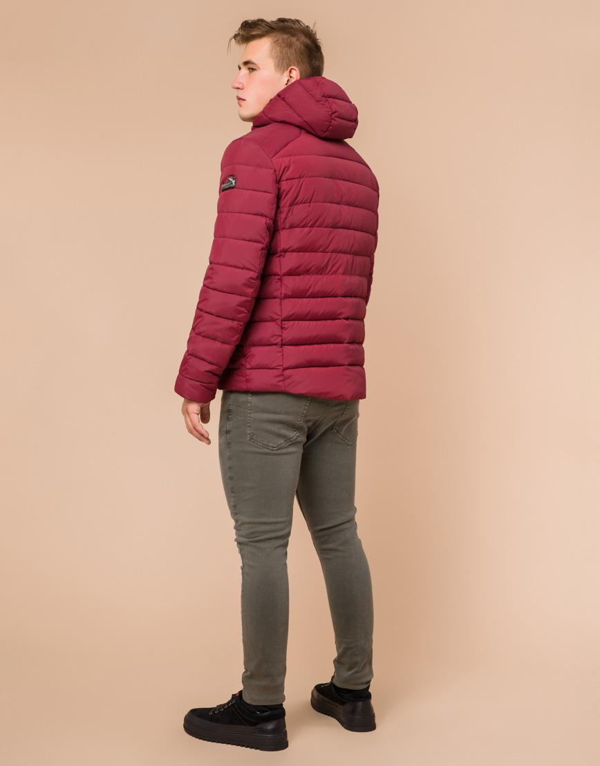 Стильная мужская куртка бордовая модель 40962 фото 3