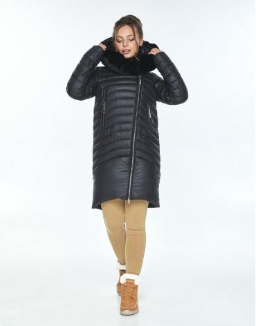 Комфортная куртка чёрная женская Ajento зимняя 24138 фото 1