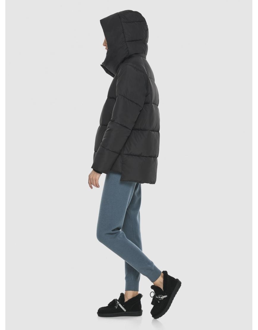 Комфортная чёрная куртка Vivacana женская 7354/21 фото 4
