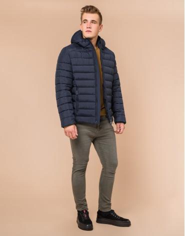 Брендовая сине-черная куртка мужская модель 40962