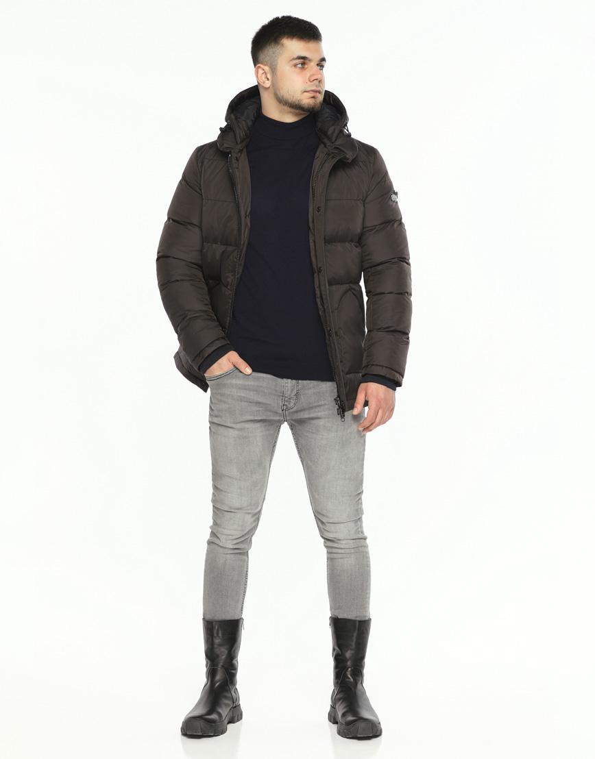 Куртка мужская высокого качества цвет шоколад модель 27544 фото 2