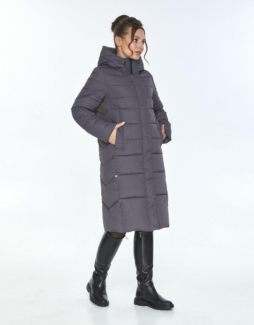 Зимняя куртка свободного кроя женская Ajento серая 22975 фото 2