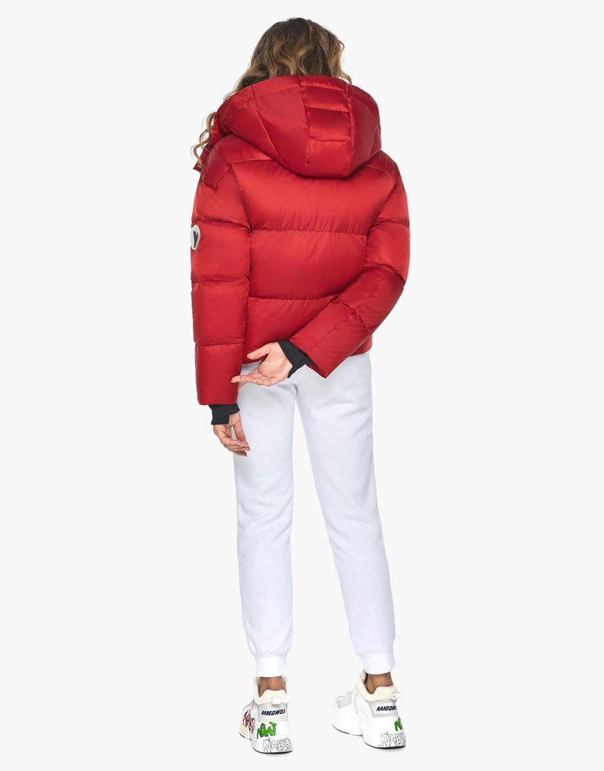 Куртка пуховик Youth женский трендовый рубиновый модель 27450 фото 7