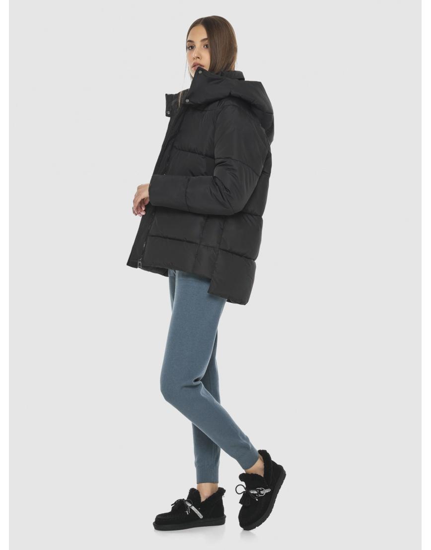 Комфортная чёрная куртка Vivacana женская 7354/21 фото 6