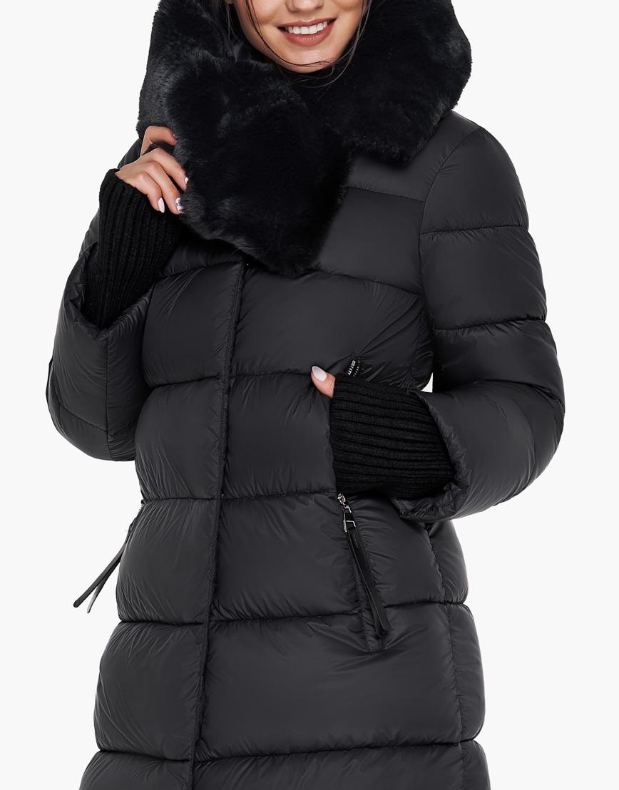 Воздуховик Braggart женский зимний цвет черный модель 31027 оптом фото 6