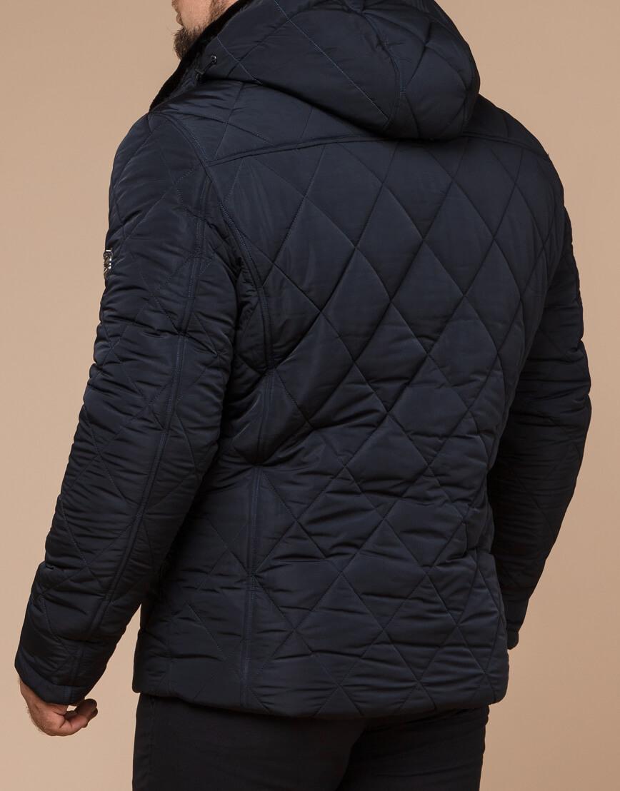 Темно-синяя зимняя куртка с капюшоном модель 19121 фото 3