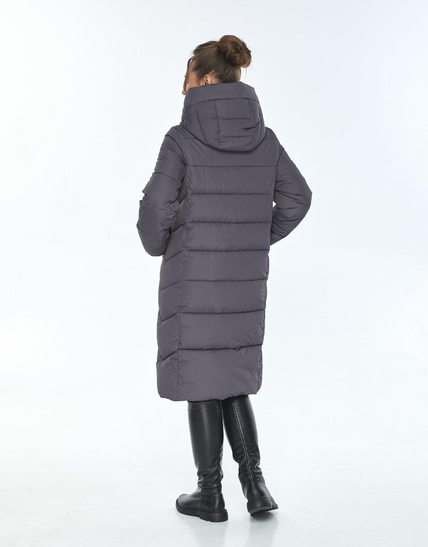 Зимняя куртка свободного кроя женская Ajento серая 22975 фото 3