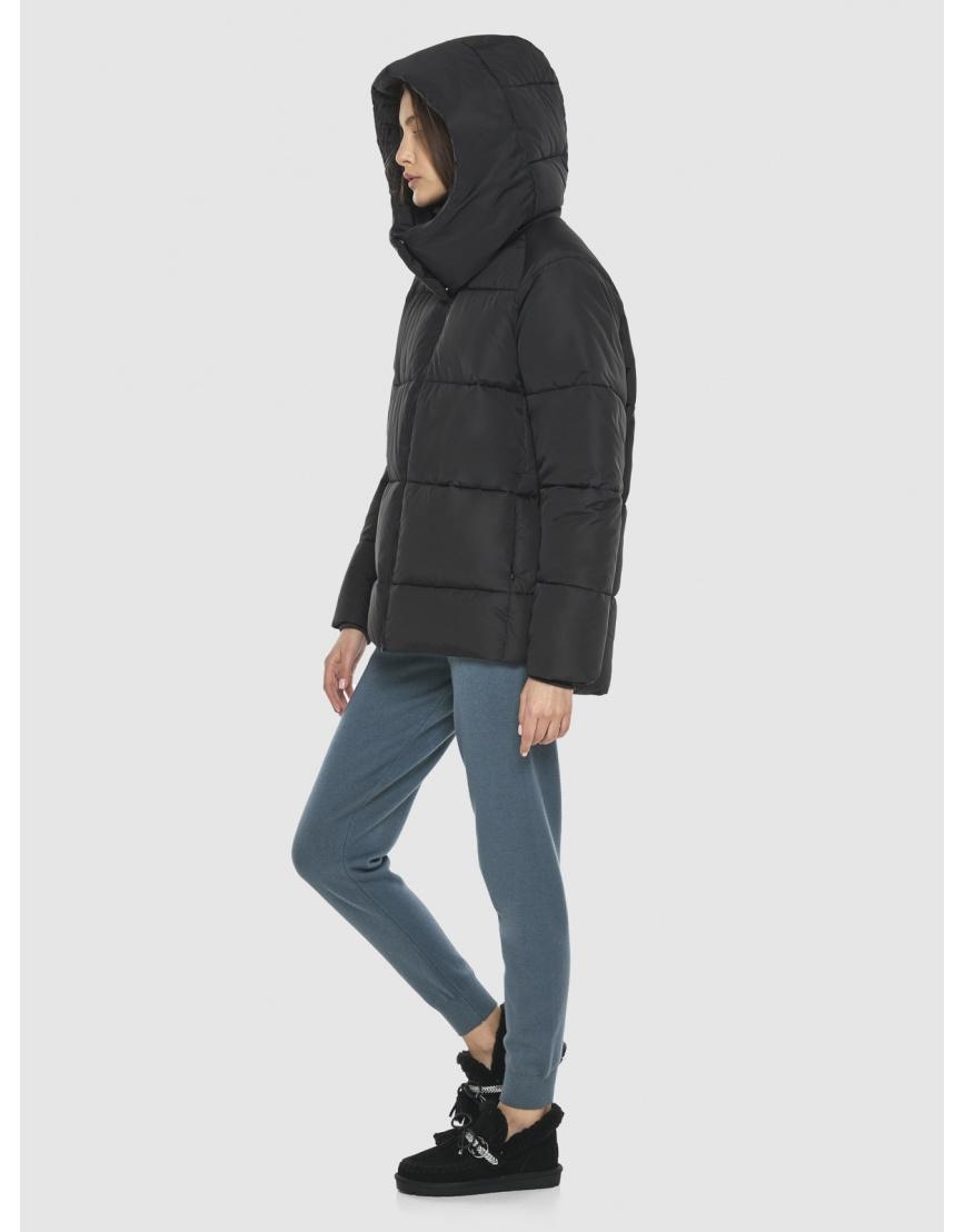 Комфортная чёрная куртка Vivacana женская 7354/21 фото 3