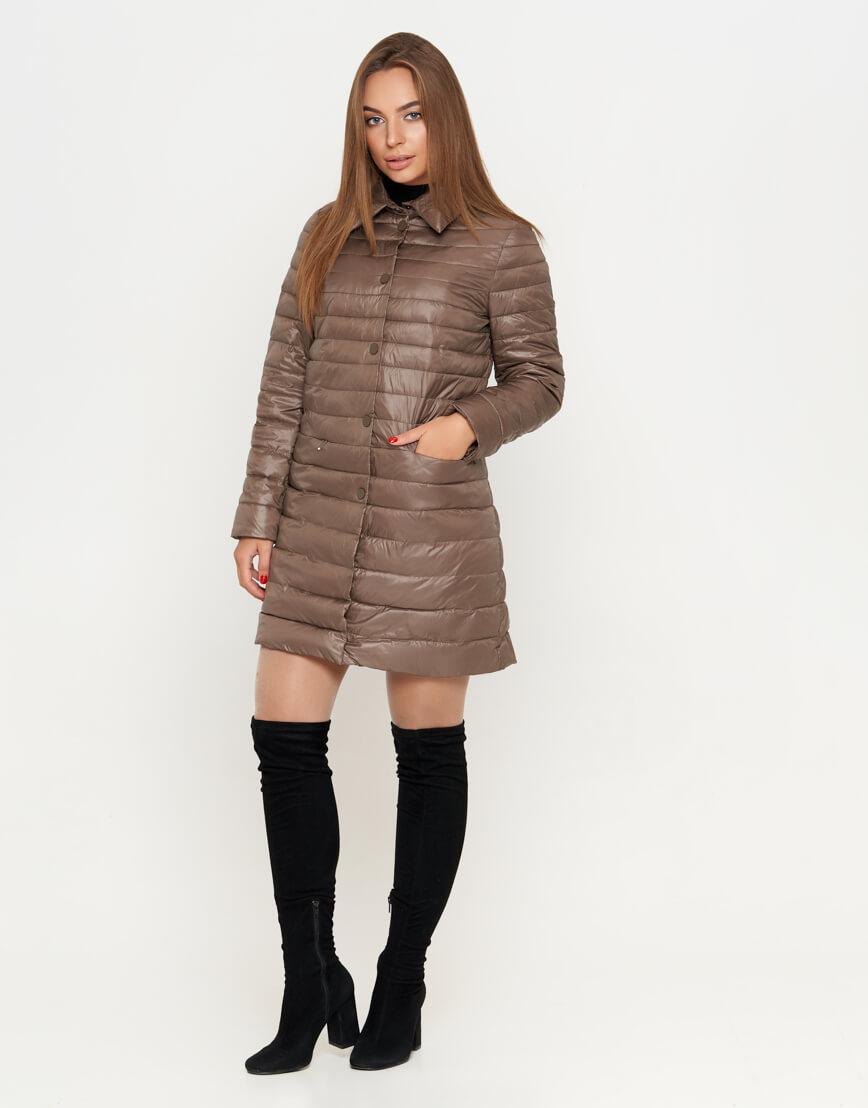 Куртка цвета капучино женская стильная модель 751
