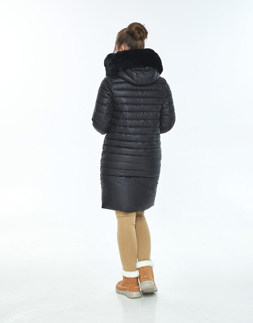 Комфортная куртка чёрная женская Ajento зимняя 24138 фото 3