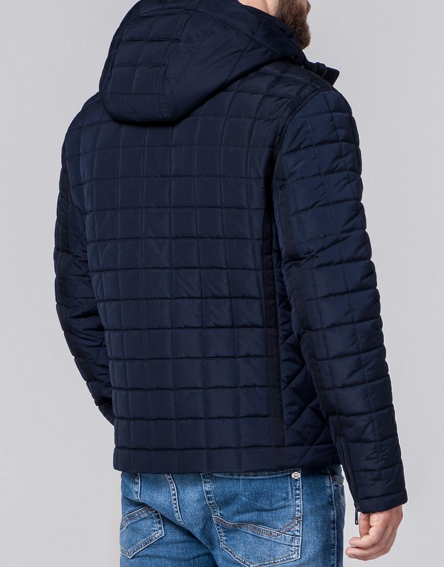 Темно-синяя куртка модного фасона модель 2475 фото 3