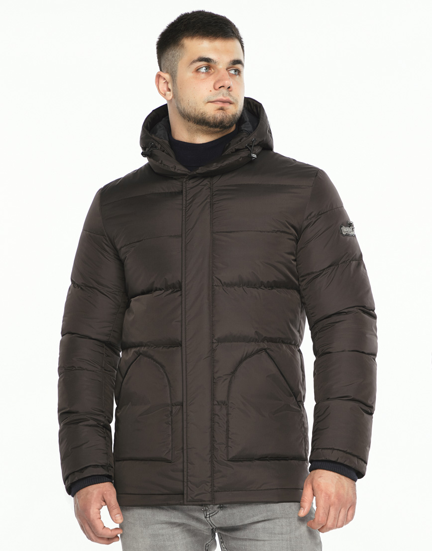 Куртка мужская высокого качества цвет шоколад модель 27544 фото 3