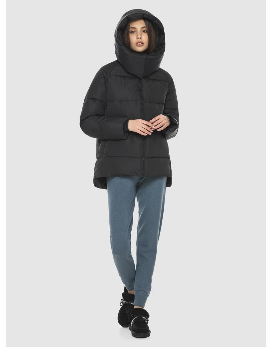 Комфортная чёрная куртка Vivacana женская 7354/21 фото 5