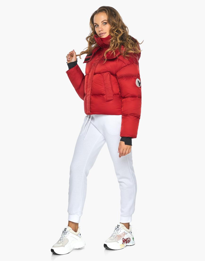 Куртка пуховик Youth женский трендовый рубиновый модель 27450 фото 1