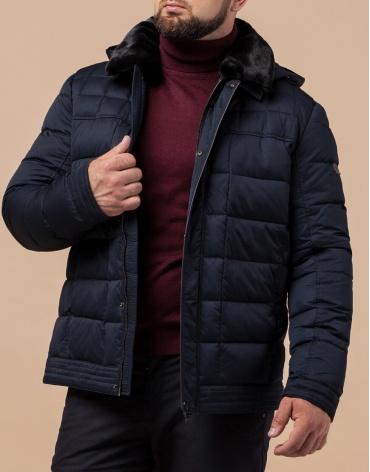 Брендовая темно-синяя куртка мужская модель 17193
