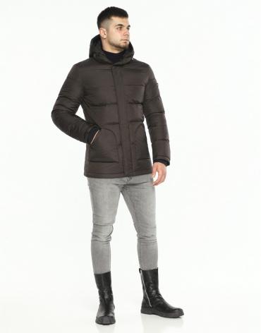 Куртка мужская высокого качества цвет шоколад модель 27544 фото 1