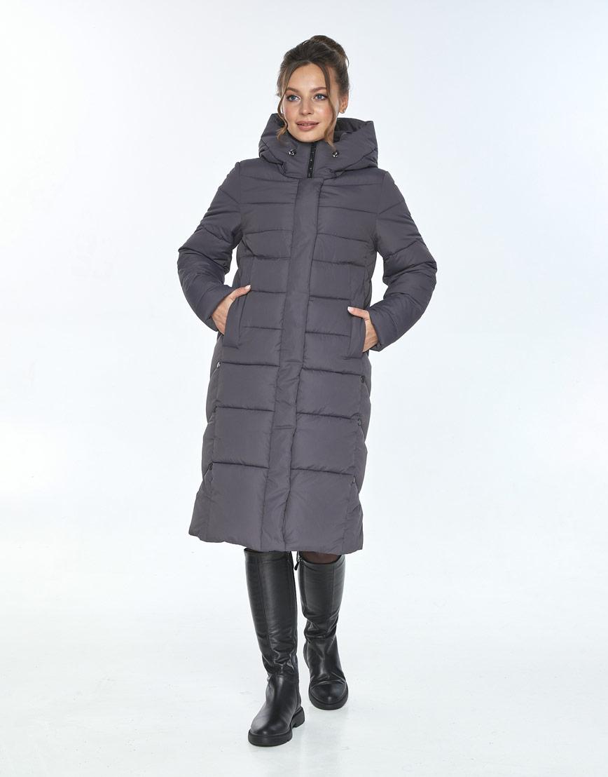 Зимняя куртка свободного кроя женская Ajento серая 22975 фото 1