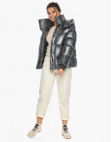 Воздуховик женский зимний трендовый Braggart цвет темное серебро модель 44210 фото 1