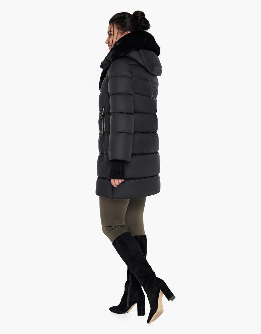 Воздуховик Braggart женский зимний цвет черный модель 31027 оптом фото 5