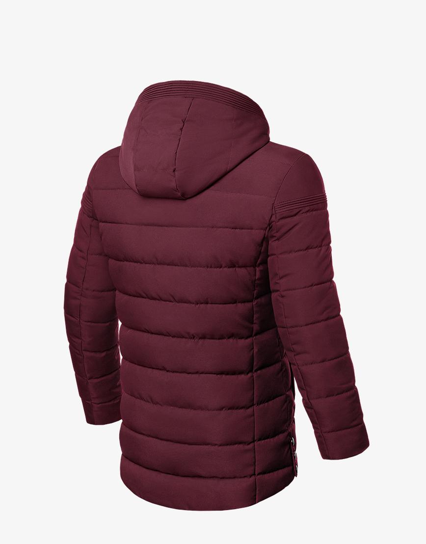 Практичная куртка зимняя бордовая модель 8806 фото 2