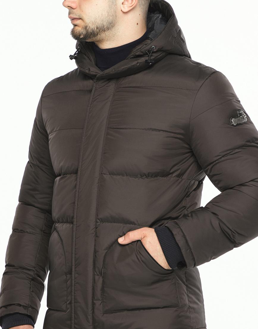 Куртка мужская высокого качества цвет шоколад модель 27544 фото 5