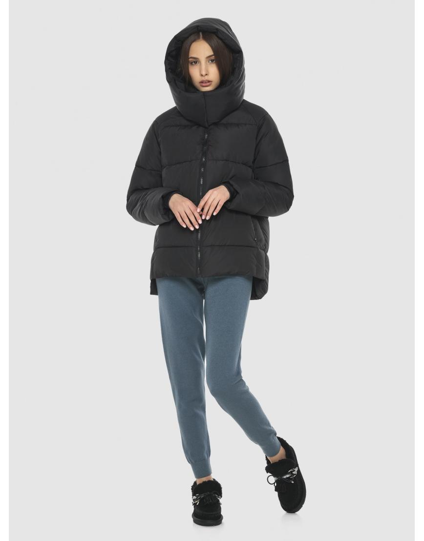 Комфортная чёрная куртка Vivacana женская 7354/21 фото 2
