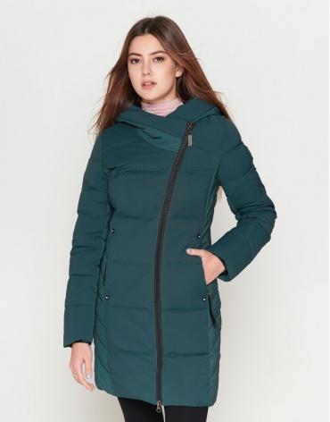 Женская утепленная бирюзовая куртка модель 25085 фото 1