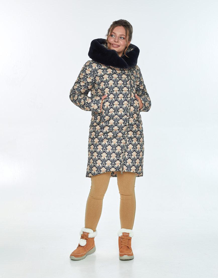 Практичная зимняя куртка с рисунком женская Ajento 24138 фото 2