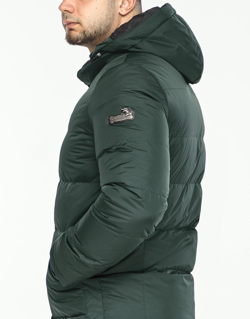 Куртка темно-зеленая фирменная зимняя модель 27544 фото 6