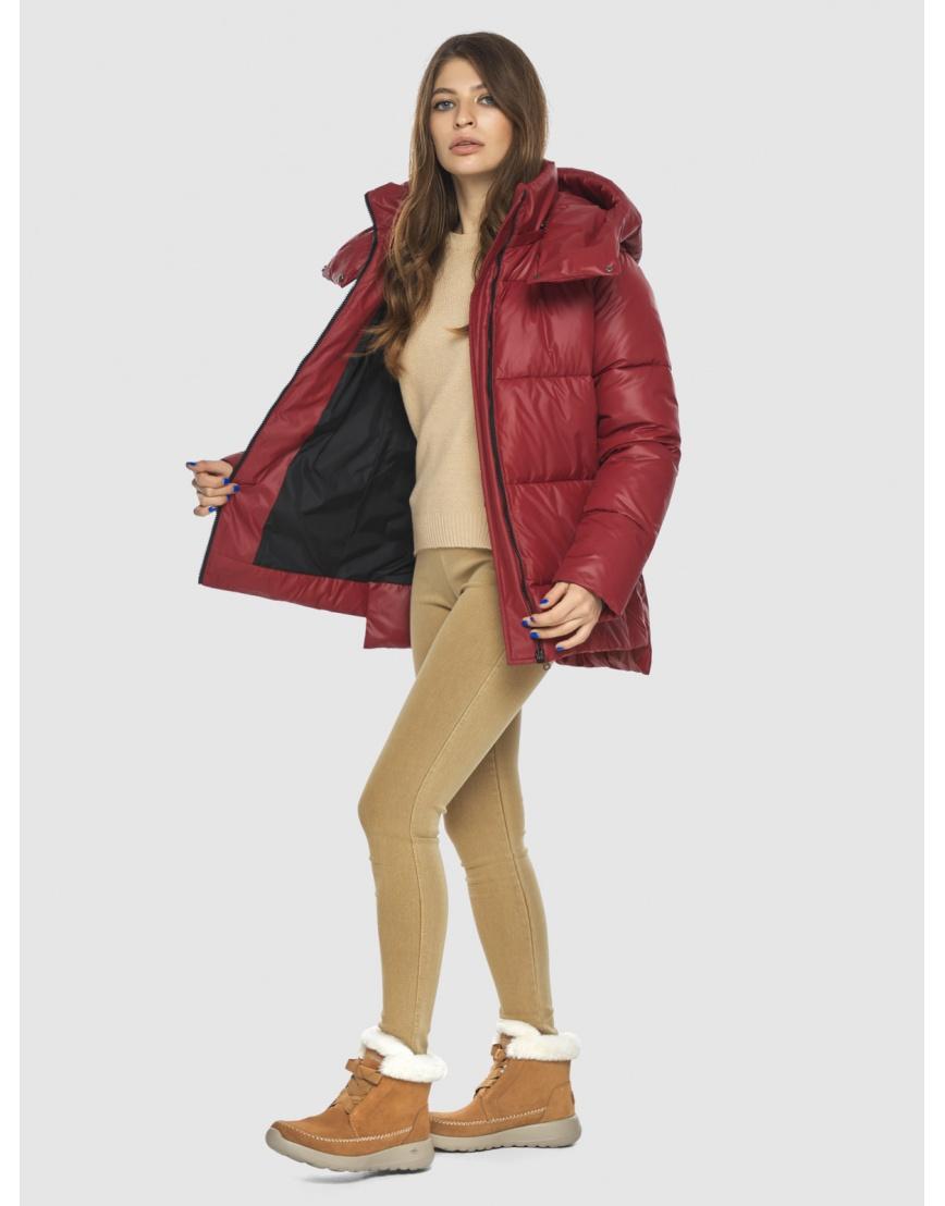 Красная куртка Ajento подростковая фирменная 22430 фото 5