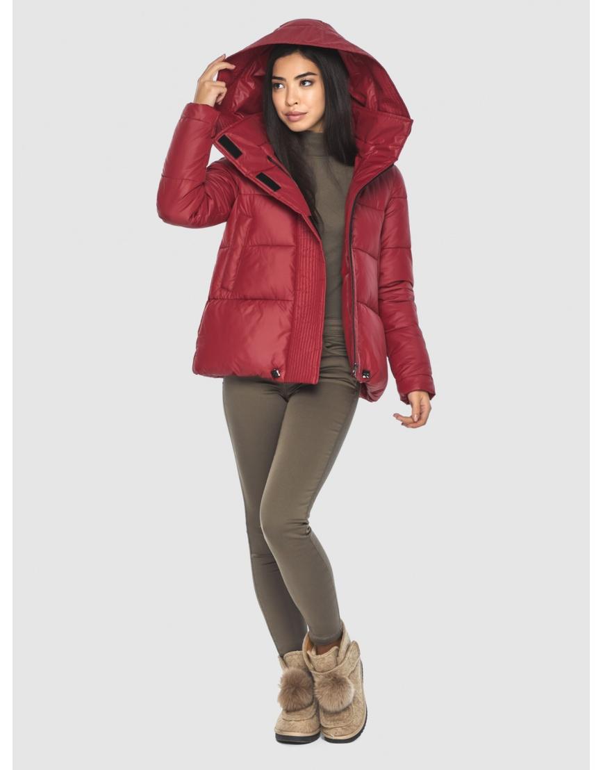 Укороченная подростковая куртка Moc красная зимняя M6981 фото 6