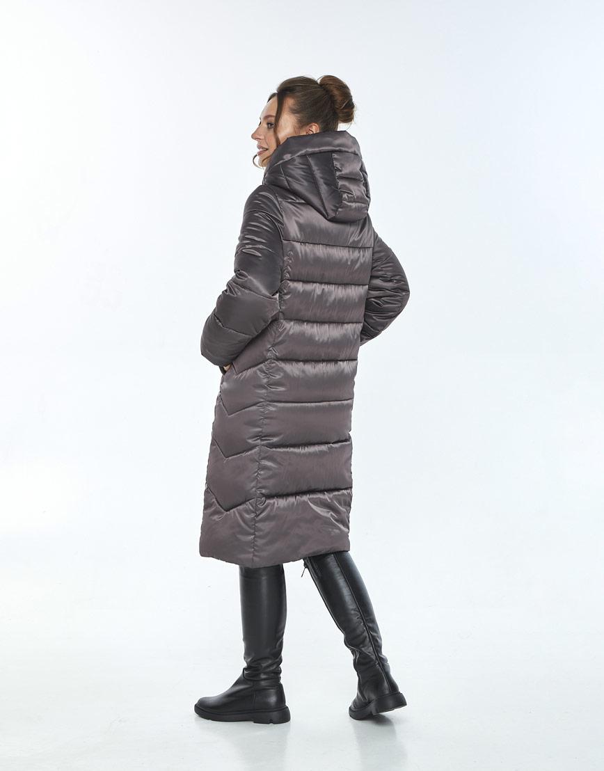 Куртка фирменная женская Ajento зимняя капучиновая 22975 фото 3