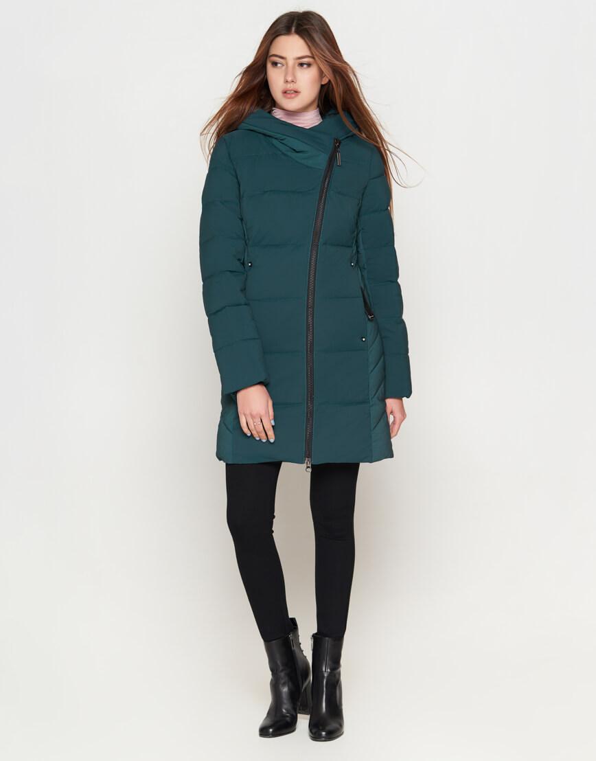 Женская утепленная бирюзовая куртка модель 25085 фото 3