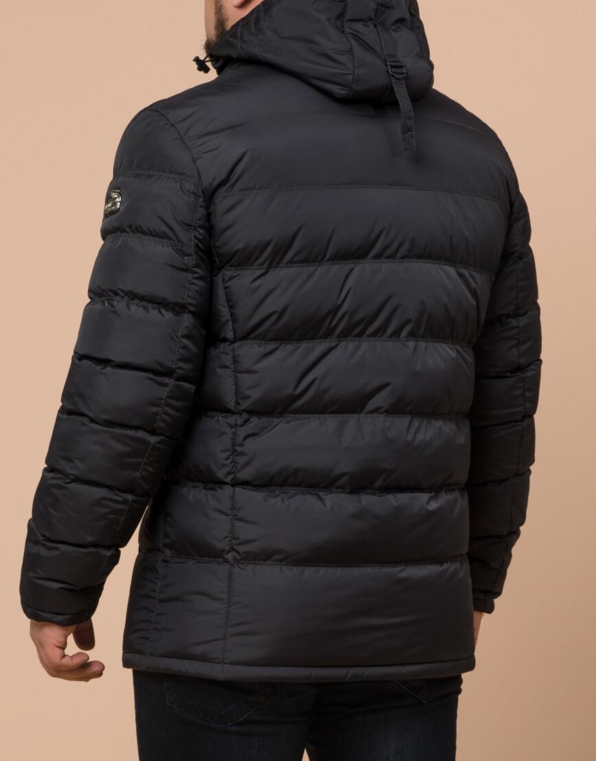 Куртка большого размера графитовая для мужчин зимняя модель 12952 оптом фото 3