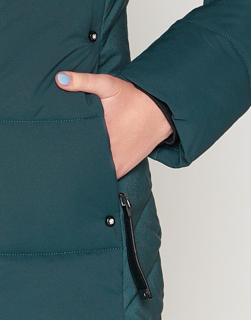 Женская утепленная бирюзовая куртка модель 25085 фото 6