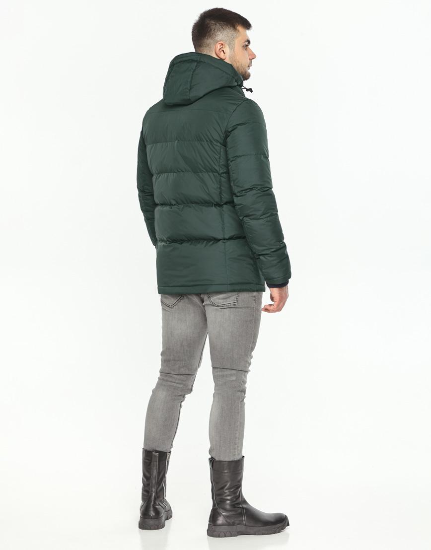 Куртка темно-зеленая фирменная зимняя модель 27544 фото 4
