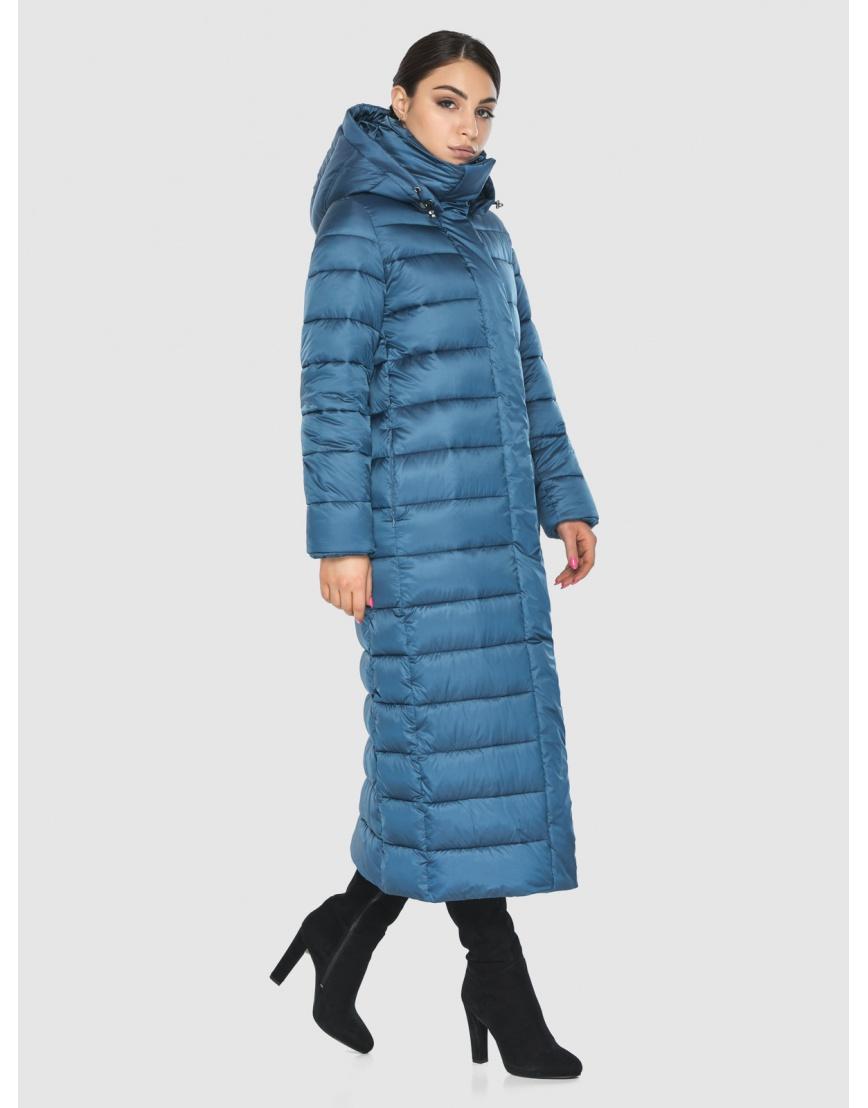 Длинная женская куртка Wild Club аквамариновая 524-65 фото 6