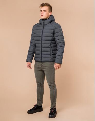 Современная графитовая куртка на зиму модель 40962