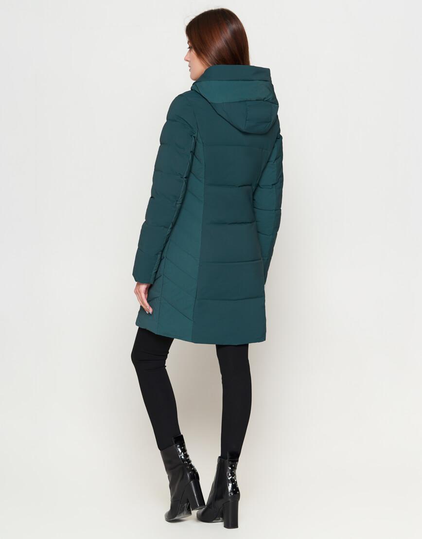 Женская утепленная бирюзовая куртка модель 25085 фото 4