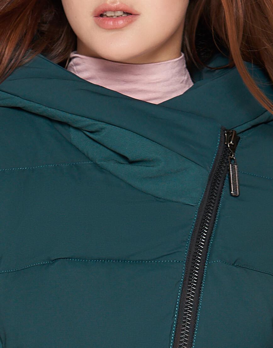 Женская утепленная бирюзовая куртка модель 25085 фото 5