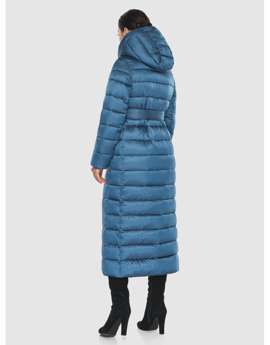 Длинная женская куртка Wild Club аквамариновая 524-65 фото 4