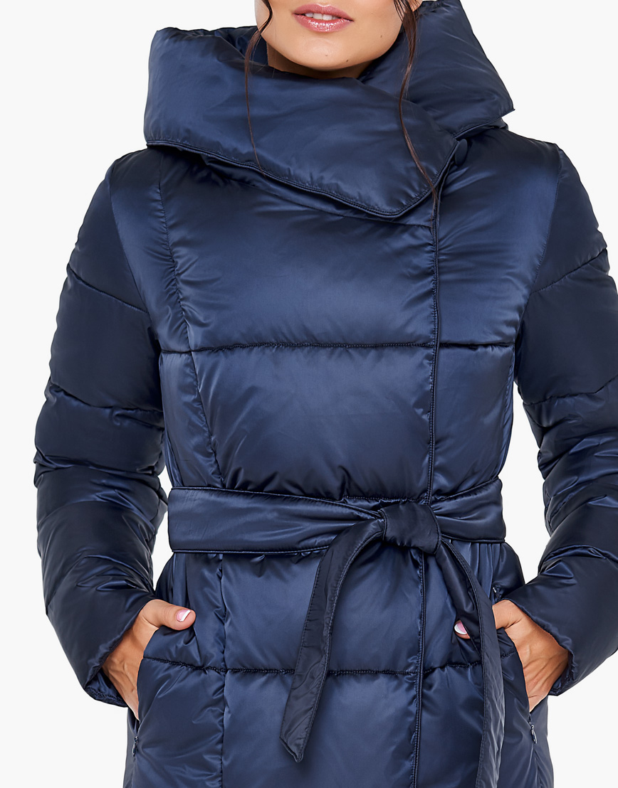 Зимний женский воздуховик Braggart теплый цвет синий бархат модель 31056