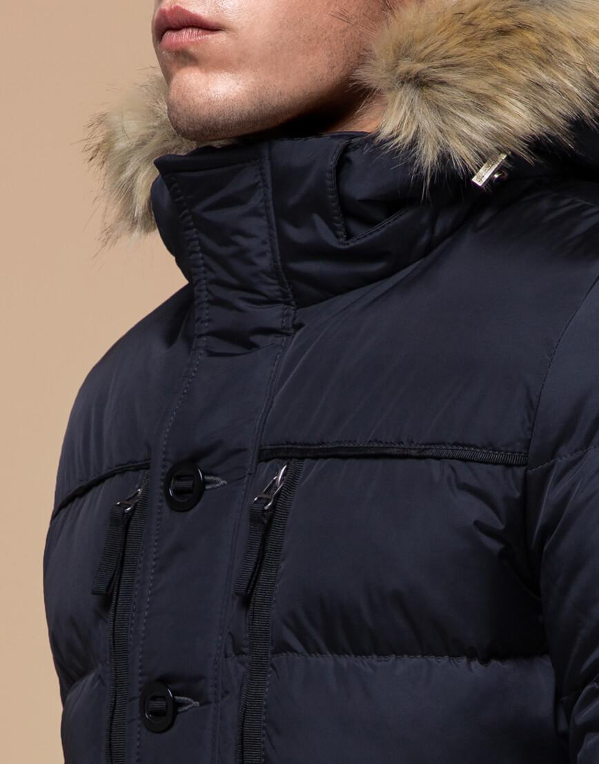 Зимняя темно-синяя куртка для мужчин модель 45610 оптом