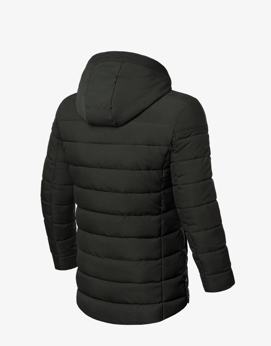Темно-зеленая удобная зимняя куртка модель 8806 фото 2