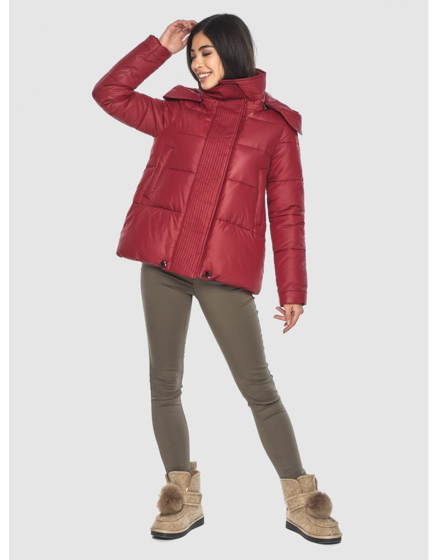 Укороченная подростковая куртка Moc красная зимняя M6981 фото 1
