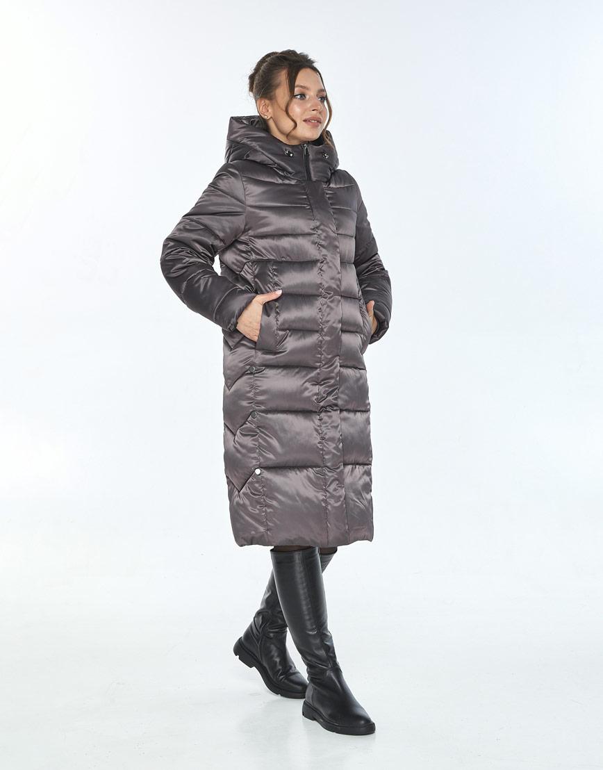 Куртка фирменная женская Ajento зимняя капучиновая 22975 фото 2
