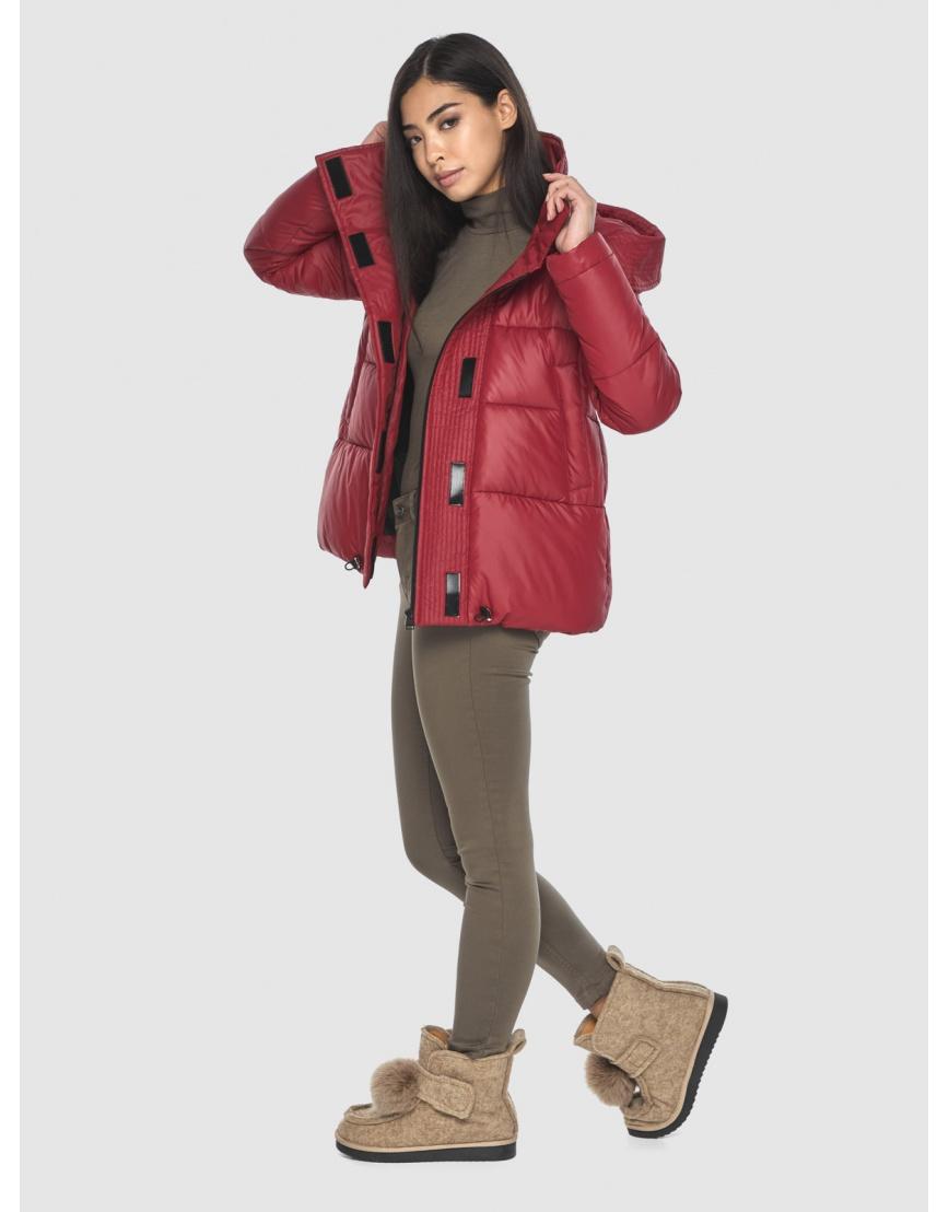 Укороченная подростковая куртка Moc красная зимняя M6981 фото 3