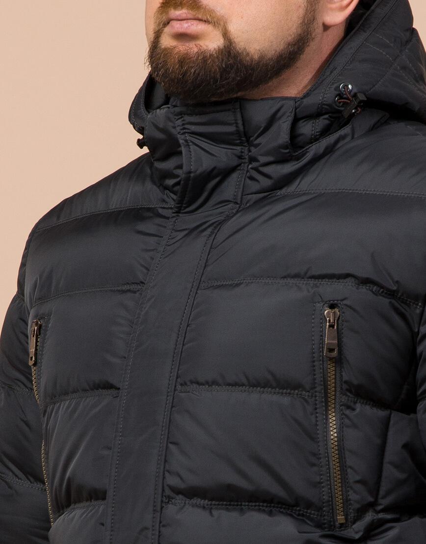 Куртка большого размера графитовая для мужчин зимняя модель 12952 оптом фото 4